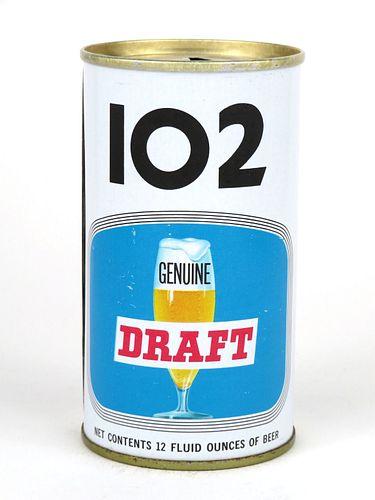 1969 102 Genuine Draft Beer 12oz Tab Top Can T104-25