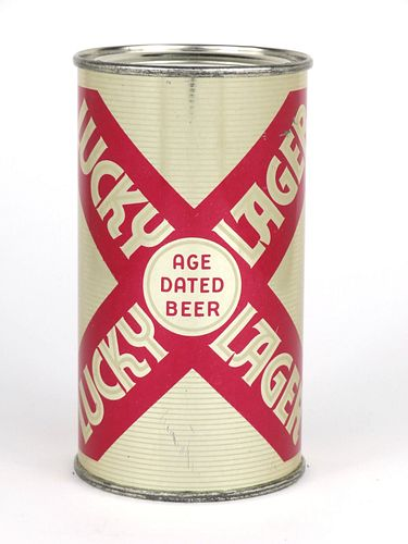 1954 Lucky Lager Beer 12oz Flat Top Can 92-26.1