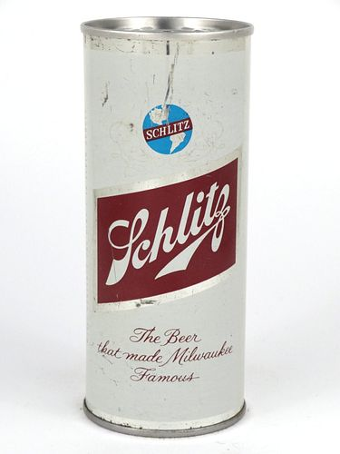 1954 Schlitz Beer (Kansas City) 16oz  One Pint Tab Top Can T165-07