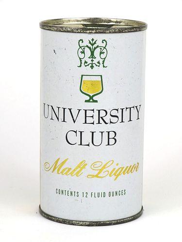 1961 University Club Malt Liquor 12oz Flat Top Can 142-14