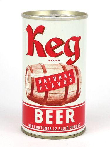 1972 Keg Beer 12oz Tab Top Can T84-22.2