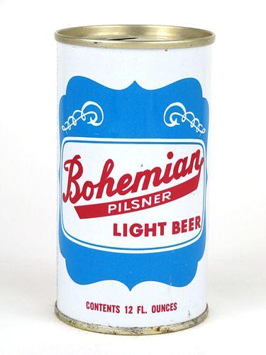 1971 Bohemian Pilsner Light Beer 12oz Tab Top Can T44-30