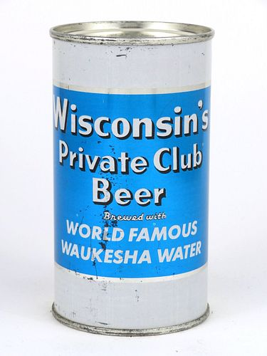 1957 Wisconsin's Private Club Beer 12oz Flat Top Can 146-32