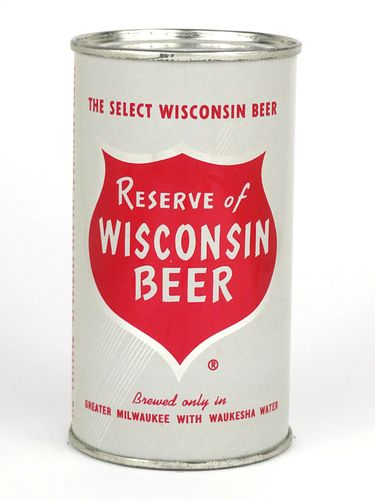 1960 Reserve of Wisconsin Beer 12oz Flat Top Can 122-30