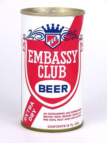 1967 Embassy Club Beer 12oz Tab Top Can T61-32