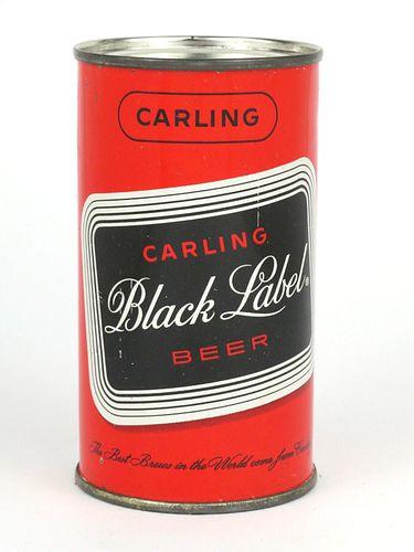 1958 Carling Black Label Beer (Frankenmuth) 12oz Flat Top Can 38-06
