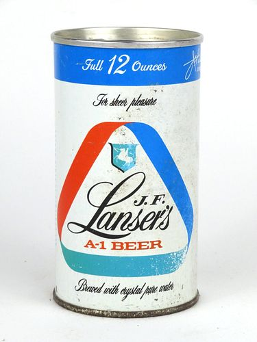 1963 J.F. Lansers Beer 12oz Tab Top Can T83-18