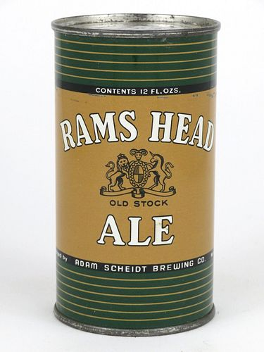 1956 Rams Head Ale 12oz Flat Top Can 118-34.1