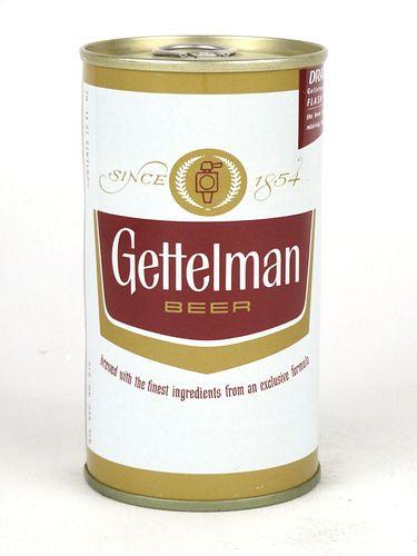 1967 Gettelman Beer 12oz Tab Top Can T68-05