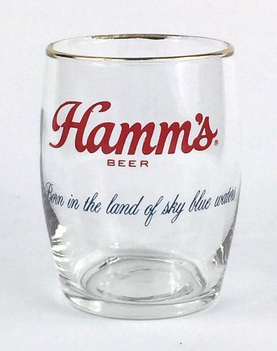 1973 Hamm's Beer  Barrel Glass