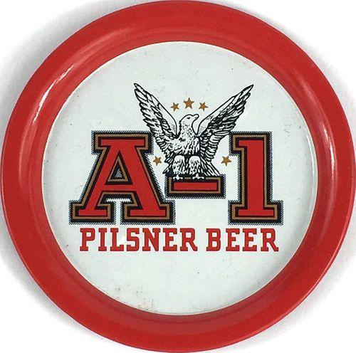 1960 A-1 Pilsner Beer 3½ inch tin Coaster