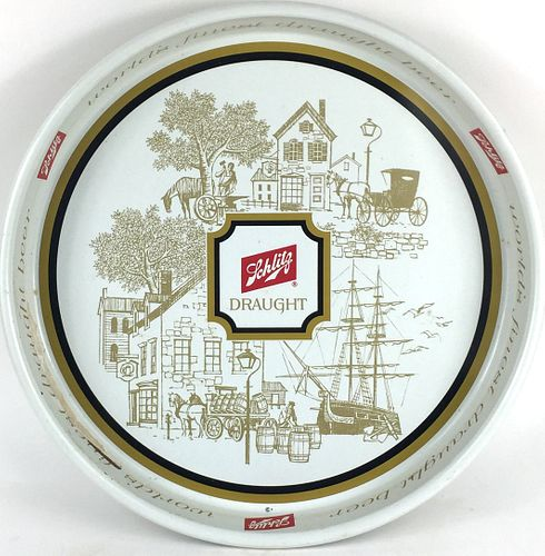 1964 Schlitz Draught Beer 13 inch tray Serving Tray