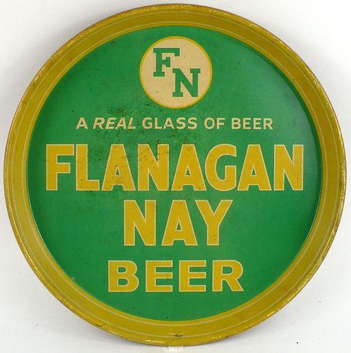 1933 Flanagan Nay Beer 12 inch tray Serving Tray
