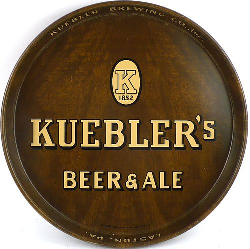 1940 Kuebler's Beer & Ale 12 inch tray Serving Tray