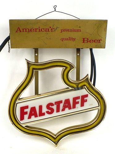1960 Falstaff Beer Neon  Neon Sign
