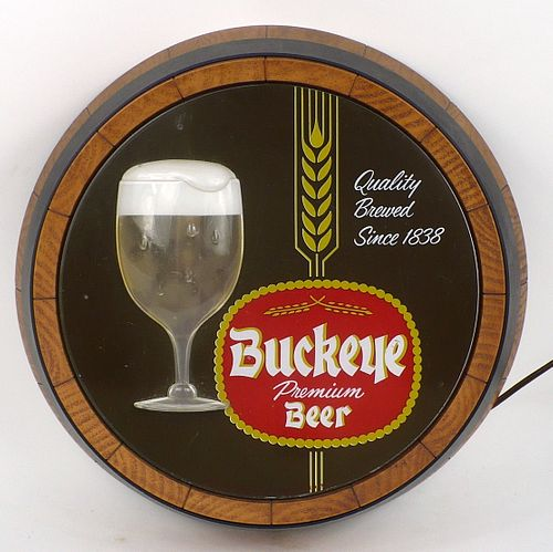 1961 Buckeye Beer (bubbler bulb missing)  Motion Sign