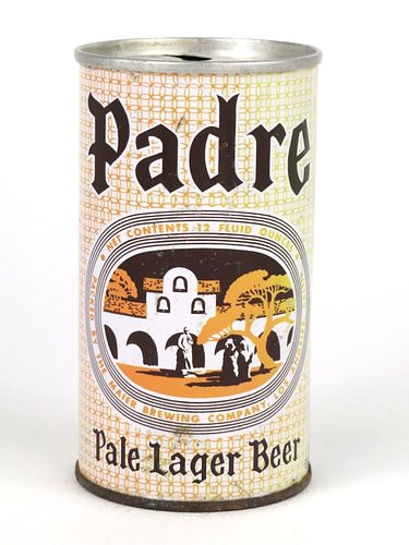 1964 Padre Pale Lager Beer  12oz Zip Top Can T106-39