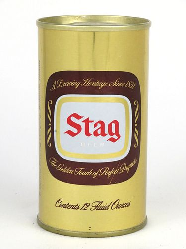 1970 Stag Beer  12oz Tab Top Can T125-36