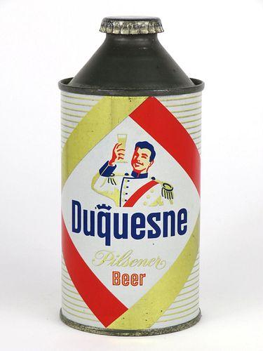 1955 Duquesne Pilsener Beer cone top can 160-03