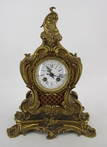 Louis XV Style Bronze Mantel Clock