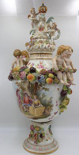Large & Impressive Meissen Style Porcelain