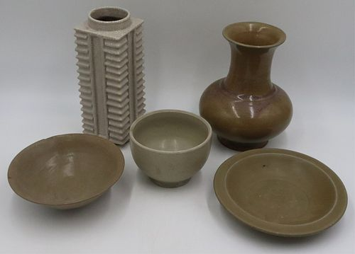 Grouping of (5) Chinese Earthenware Vessels.