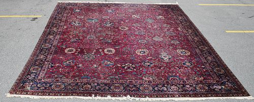Large Antique And Finely Hand Woven Carpet.