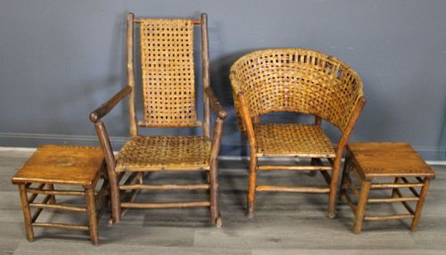 Lot Of Assorted Adirondack Chairs & Tables.