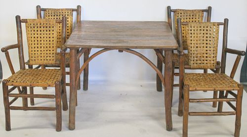 Adirondack Game Table & 4 Chairs.