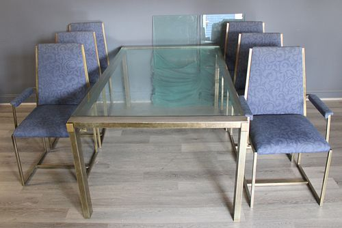 Midcentury Metal Dining Table And Chairs.