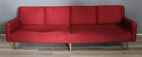 Midcentury Upholstered Sofa.