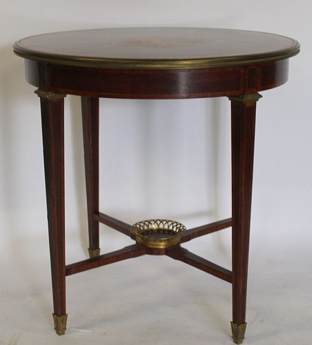 Antique Bronze Mounted, Marquetry Inlaid & Banded