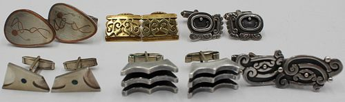 JEWELRY. (6) Pair of Mexican Sterling Cufflinks.