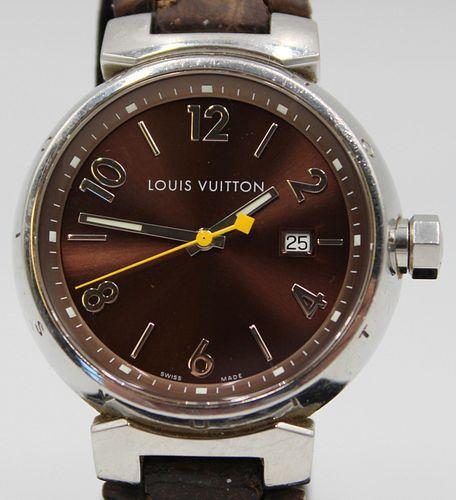 JEWELRY. Men's Louis Vuitton Tambour Quartz Watch.