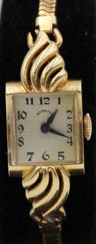 JEWELRY. Lady's Hamilton 14Kt Gold Watch.