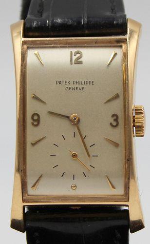 JEWELRY. Men's Patek Philippe Hour Glass 18kt Gold