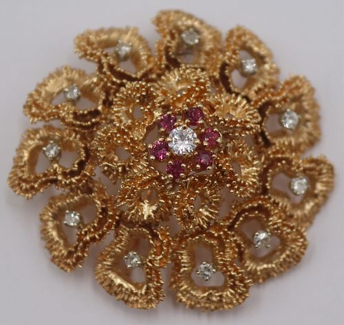 JEWELRY. 14kt Gold, Diamond, and Colored Gem