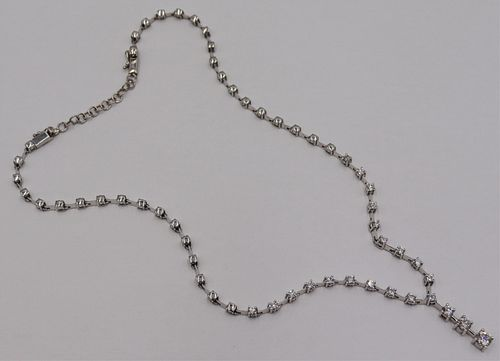 JEWELRY. 14kt Gold and Diamond Necklace w/GIA