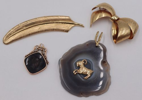 JEWELRY. 14kt Gold Jewelry Grouping.