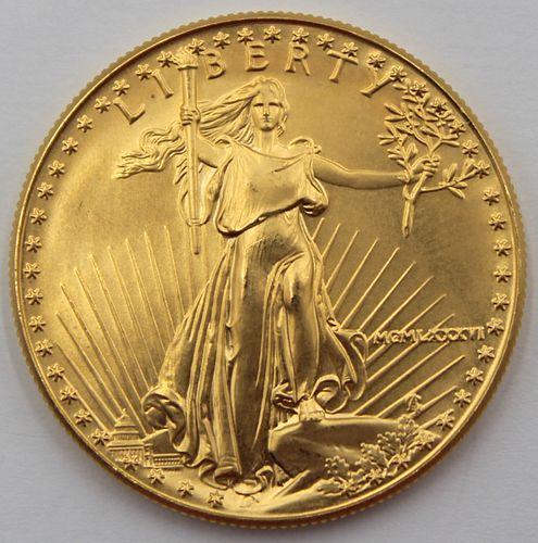 BULLION. 1986 $50 1 oz Gold American Eagle Coin.
