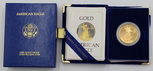 BULLION. 1986 W Proof $50 1 oz Gold American Eagle