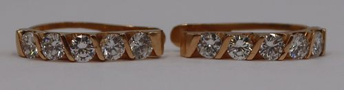JEWELRY. 18kt Gold and approx. 1.5ct Diamond