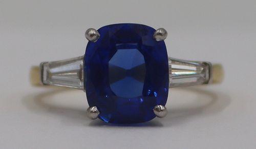 JEWELRY. AGL Natural Unheated Ceylon Sapphire Ring
