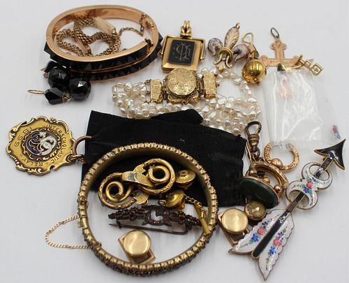 JEWELRY. Assorted Gold and Costume Jewelry