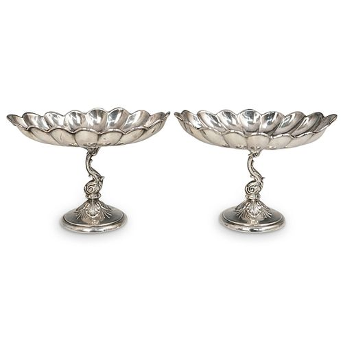 Camusso Sterling Silver Dolphin Pedestal Dishes