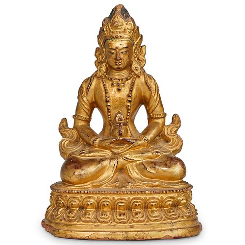 Chinese Gilt Lacquered Seated Deity