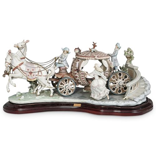 """Lladro """"At The Stroke Of 12"""" Cinderella Grouping"""