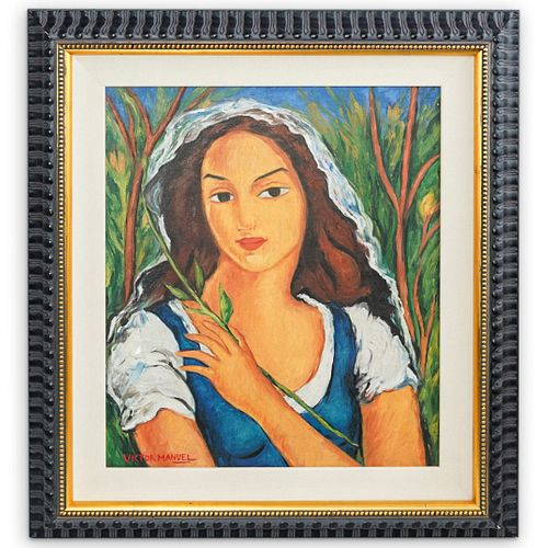 Victor Manuel (Cuban, 1912) Oil Painting