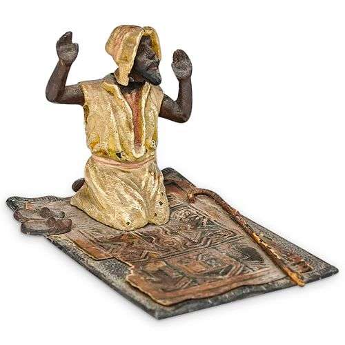 Orientalist Austrian Praying Man Bronze Figure