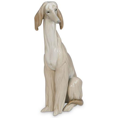 Lladro Porcelain Afghan Hound Dog Figurine